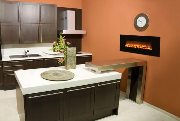 slim fire 40u2033 - Modern Electric Fireplace