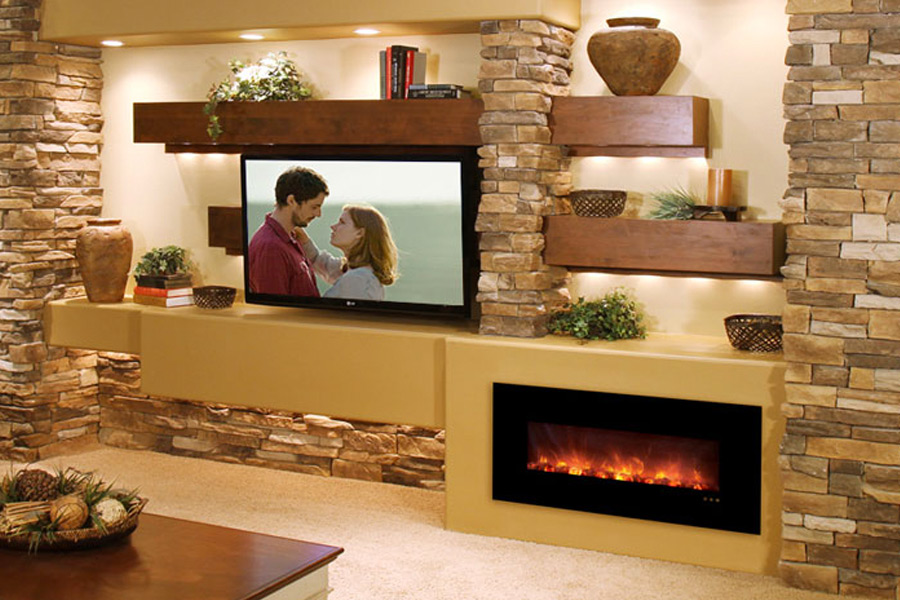 if you are looking for a great focal point to tie a room together consider a decorative fireplace you dont have to hire a contractor to install an - Decorative Fireplace