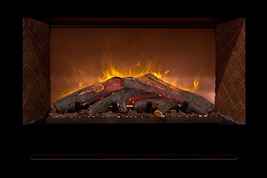 How do Electric Fireplaces Create Realistic Flames? - Realistic Electric Fireplace Modern Flames