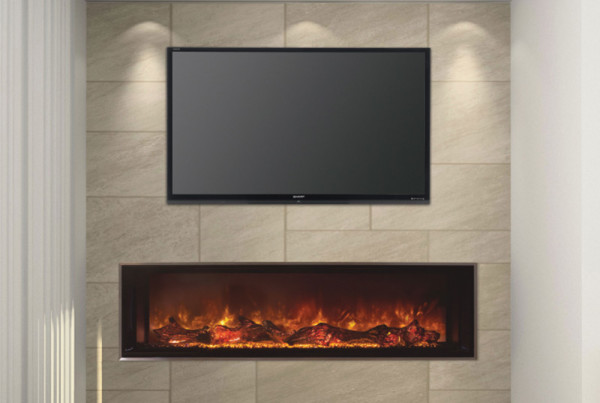 Electric fireplaces modern flames for Contemporary fireplace insert