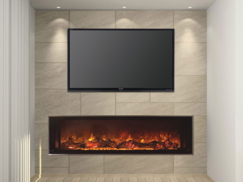 Electric Fireplace linear electric fireplace : Landscape FullView 60 - Modern Flames
