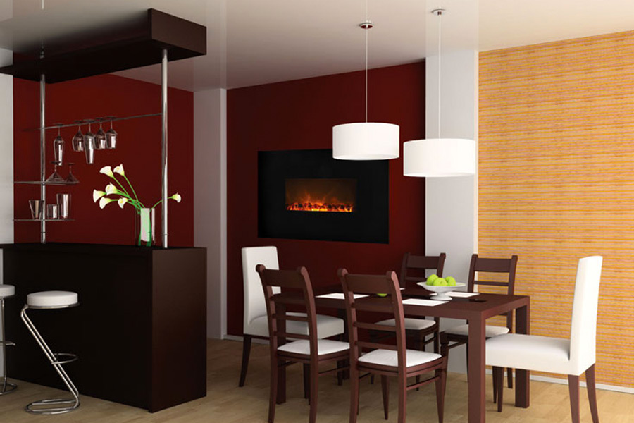 Delightful The Advantages Of An Electric Fireplace With Heater