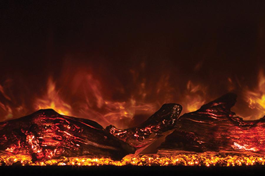 Electric Fireplace Logs Modern Flames