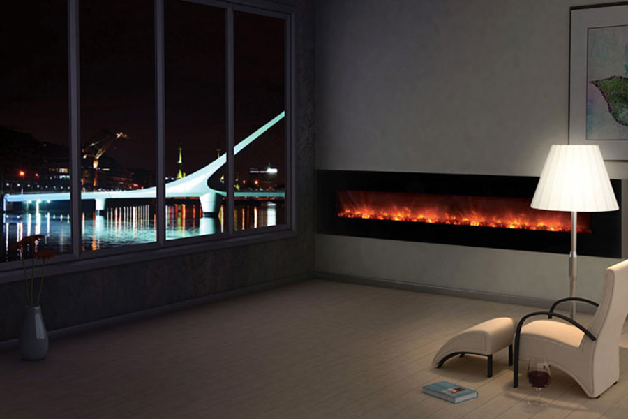 You might be considering purchasing a large electric fireplace because it