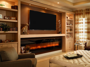 Electric Fireplace with Mantel 2