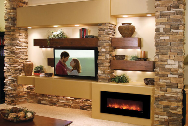 Our builder series fireplaces are designed for price and longevity. These non-heat models are 100% LED and only produce 25 watts in total electricity.