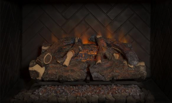 "Modern Flames Introduces Revolutionary Battery Powered Electric Log Set – 26"" Sunset Charred Oak"