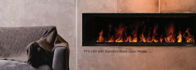 electric steam fireplace - modern flames