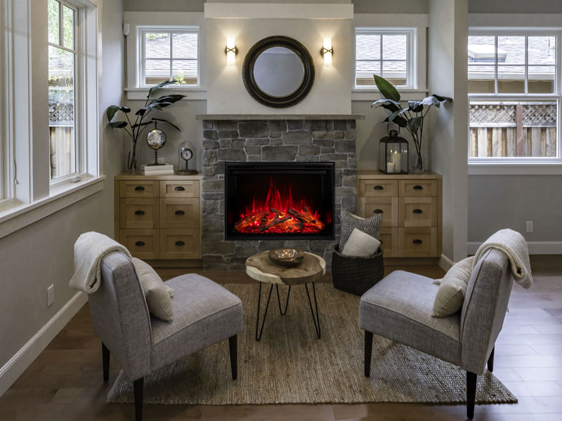 Redstone Built-in Electric Fireplace