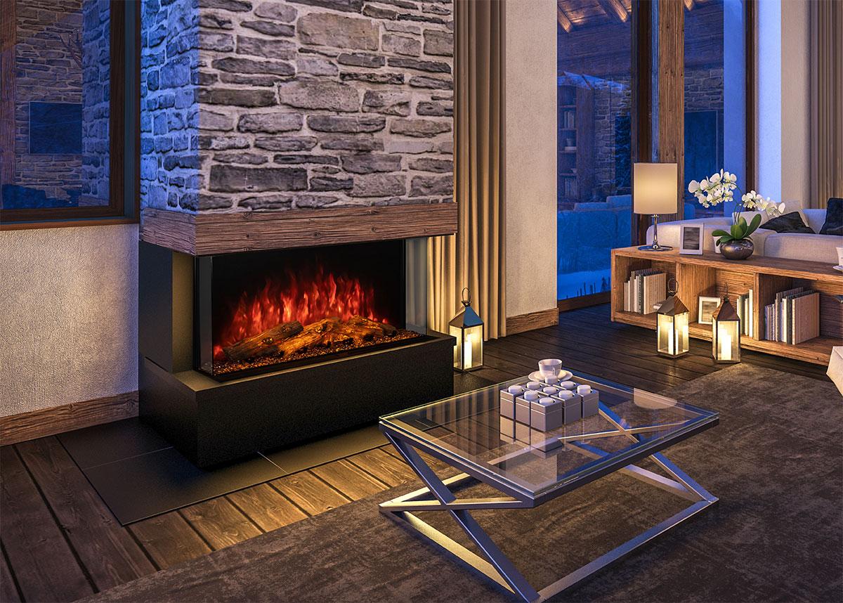 Sedona Pro Multi-Sided Electric Fireplace